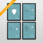 persuasive-patterns-poster-collection-framed