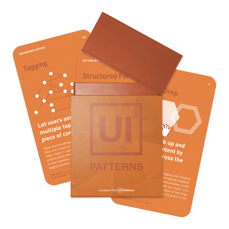 Ui Patterns Card Deck Ui Patterns